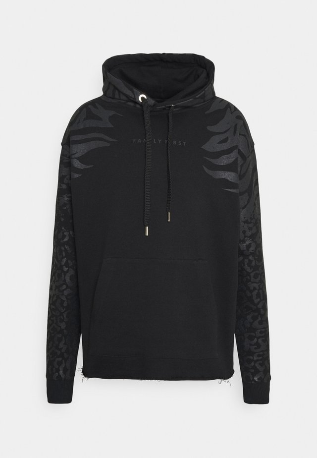 HOODIE ANIMALIER - Sweat à capuche - black