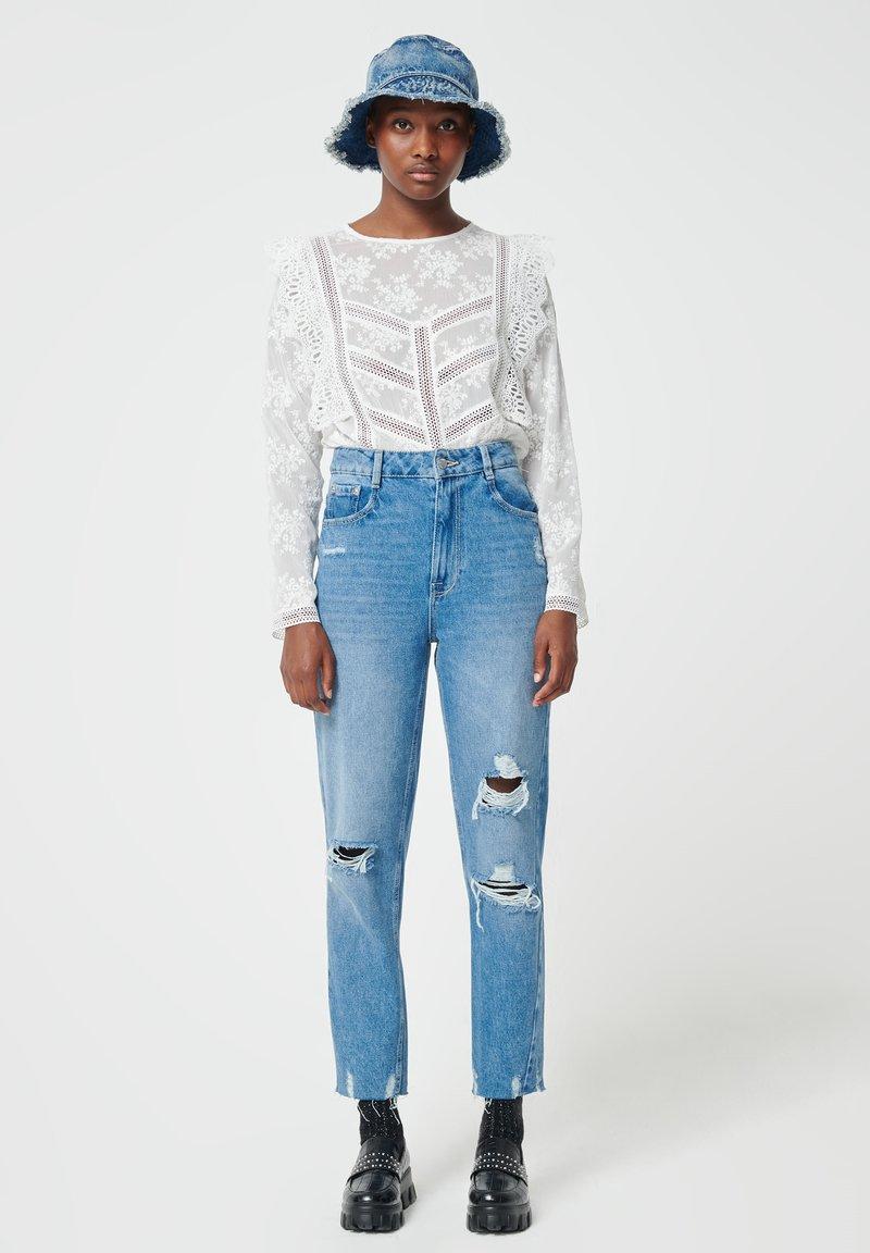 Pimkie - MOM FIT JEAN - Straight leg jeans - denimblau