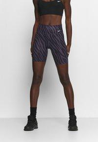 Nike Performance - ONE - Leggings - dark raisin/white - 0