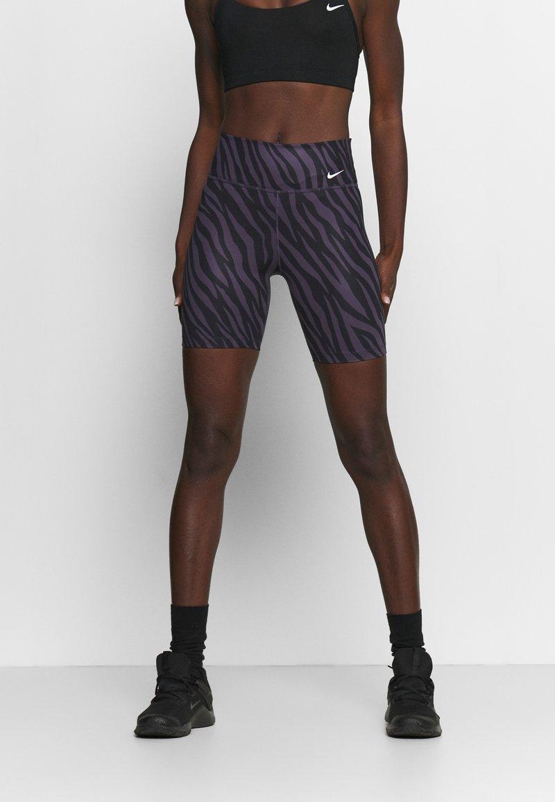 Nike Performance - ONE - Leggings - dark raisin/white