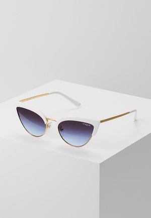 Lunettes de soleil - white/gold-coloured