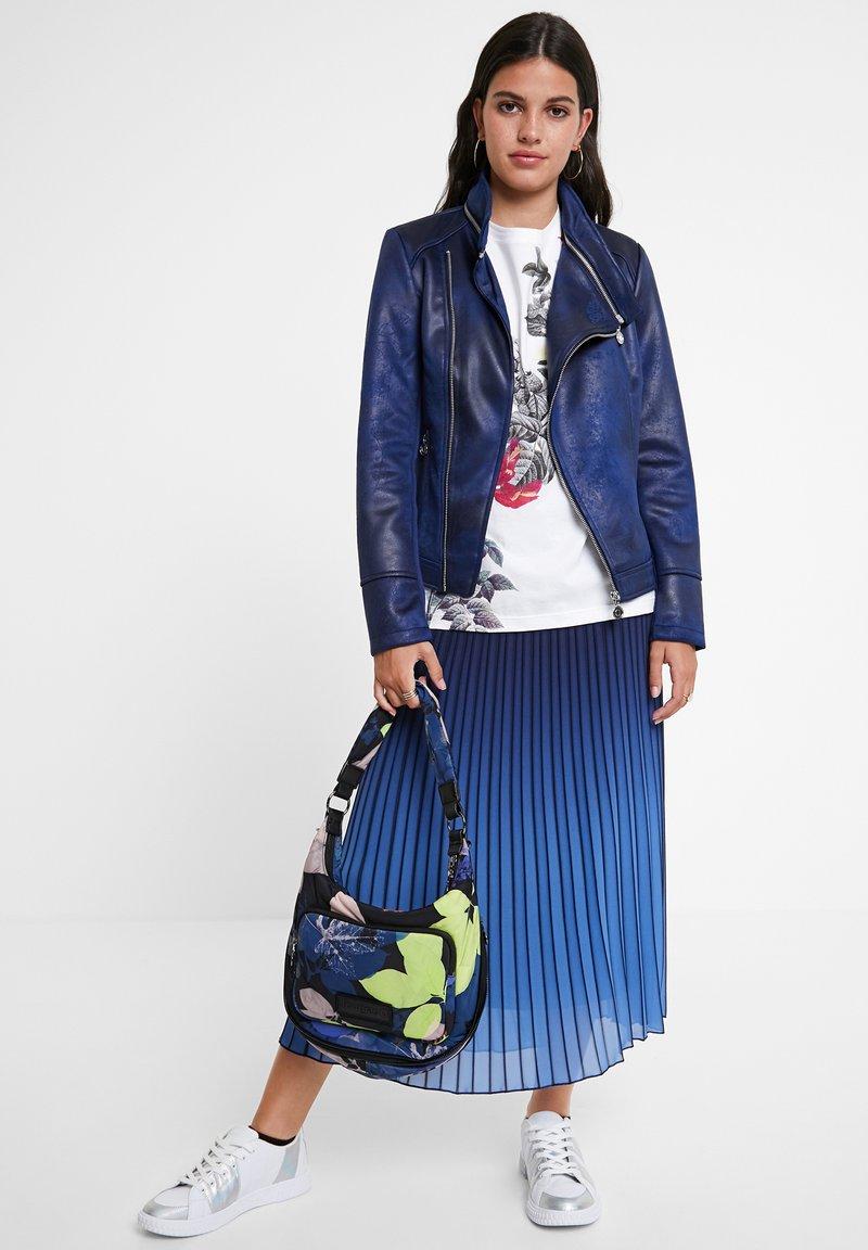 Desigual - BROWARD - Faux leather jacket - blue