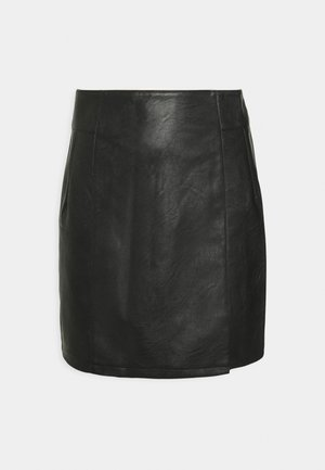SEAMED MINI - A-line skirt - black