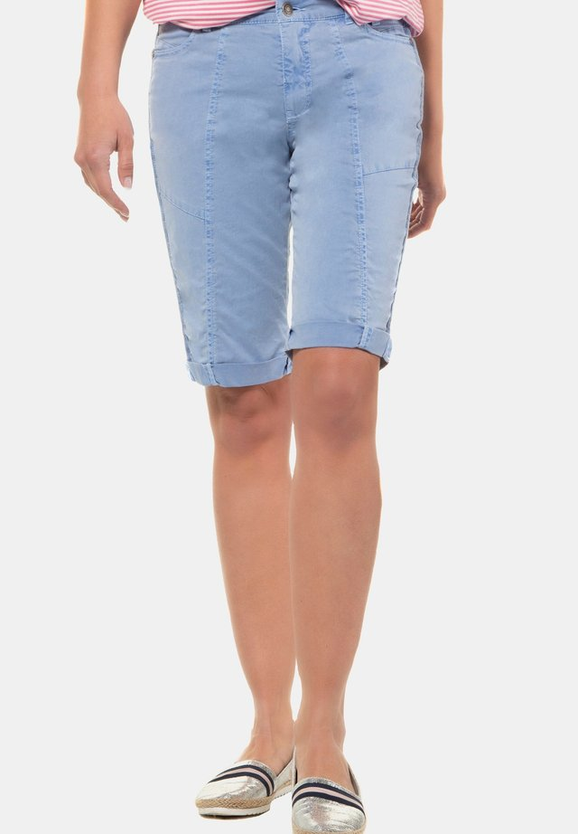 Jeansshort - nebelblau