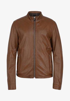 RON - Leather jacket - cognac color