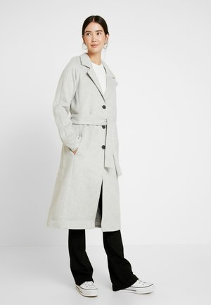 OBJLENA COAT - Kåpe / frakk - light grey melange