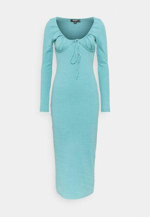 DRAWSTRING TIE BUST MIDAXI DRESS - Sukienka z dżerseju - blue