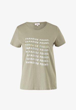 MIT SOMMERLICHEM DRUCK - T-shirt con stampa - summer khaki statement print