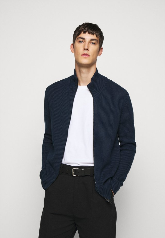 KARL ZIP CARDIGAN - Gilet - navy