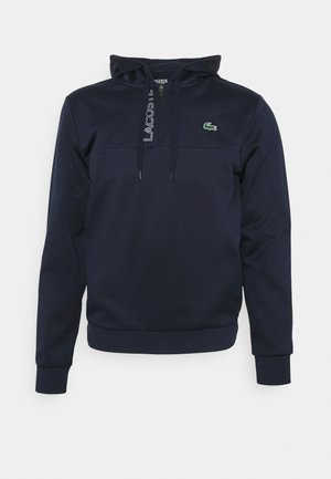 TECH HOODY ZIP - Sweatshirt - navy blue