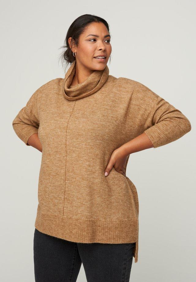 Sweter - camel
