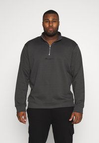 Mennace - ESSENTIAL SIG ZIP - Sweatshirt - charcoal - 0
