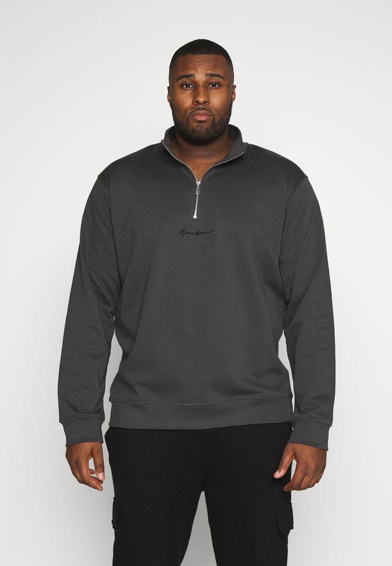 Mennace - ESSENTIAL SIG ZIP - Sweatshirt - charcoal