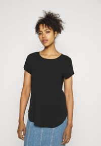 Vero Moda - VMBECCA PLAIN - T-shirt - bas - black - 0