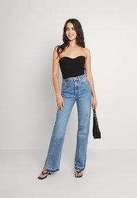 Weekday - ROWE SPLIT - Jeans straight leg - hanson blue - 1