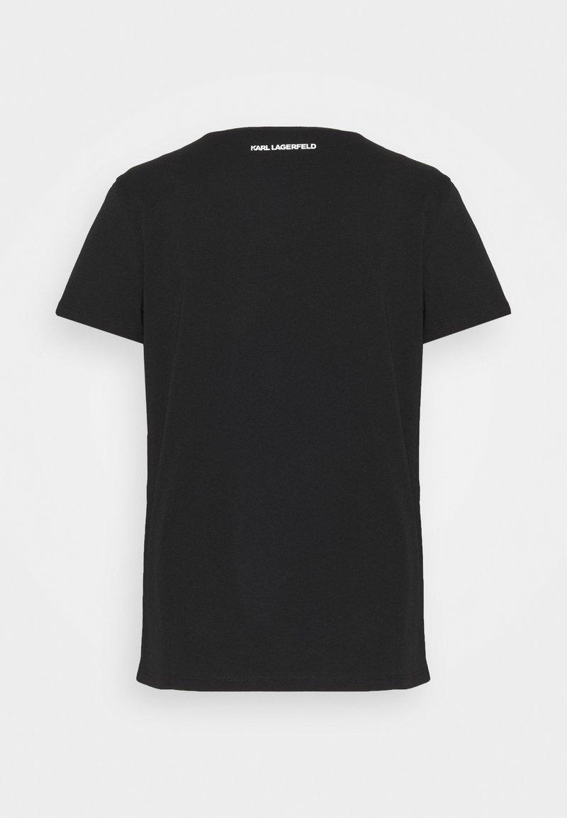 KARL LAGERFELD IKONIK CHOUPETTE - T-Shirt print - black/schwarz 8onuPq