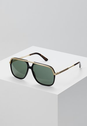 Occhiali da sole - black/gold/green