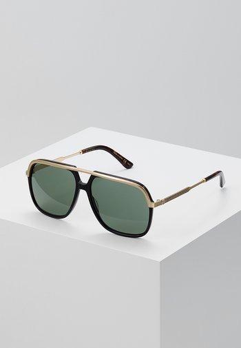 Occhiali da sole - black/gold/green
