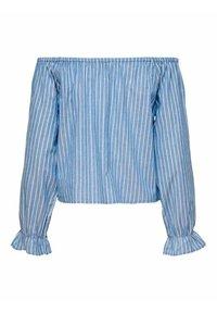 ONLY - ONLMARTHA OFFSHOULDER - Blouse - cashmere blue/cloud dancer - 8