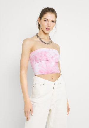 REVERSIBLE TUBE - Top - neon pink