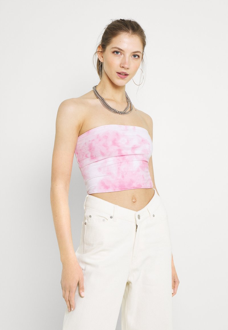 Hollister Co. - REVERSIBLE TUBE - Top - neon pink