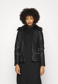 Wallis - BIKER - Faux leather jacket - black - 0