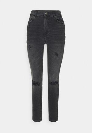 ZACHARY HIGH RISE SKINNY - Jeans Skinny Fit - dark grey