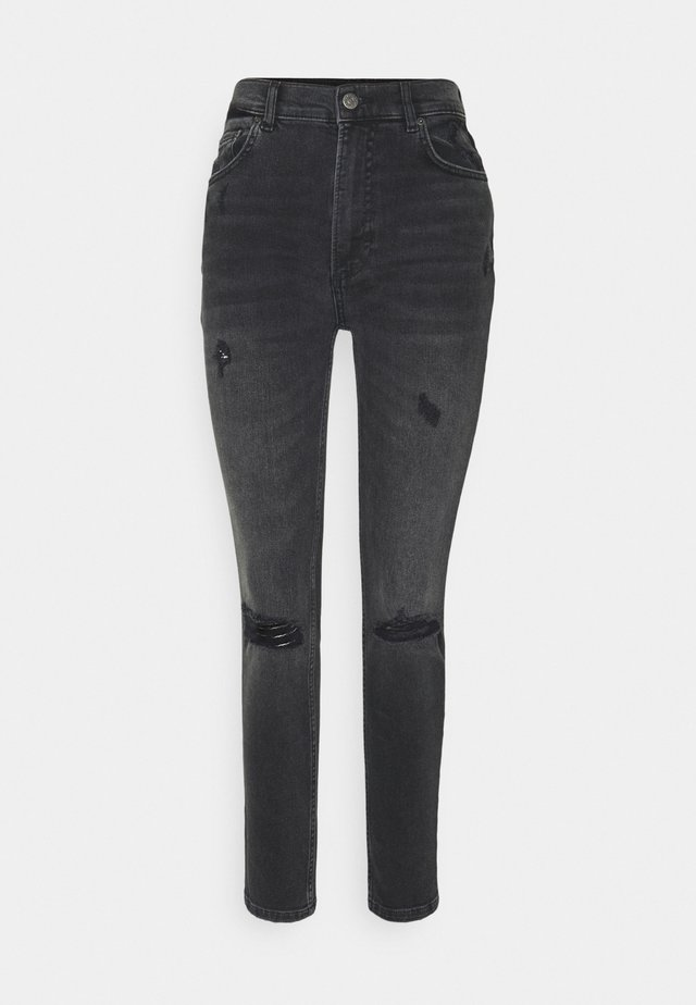 ZACHARY HIGH RISE SKINNY - Jeans Skinny Fit - dark grey