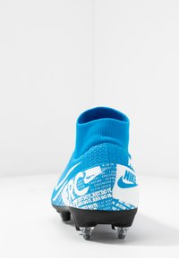 Nike Performance - MERCURIAL 7 ACADEMY SG-PRO AC - Screw-in stud football boots - blue hero/white/obsidian - 3