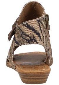 Blowfish Malibu - Ankle cuff sandals - tiger safari blanket/tobac dyecut - 1