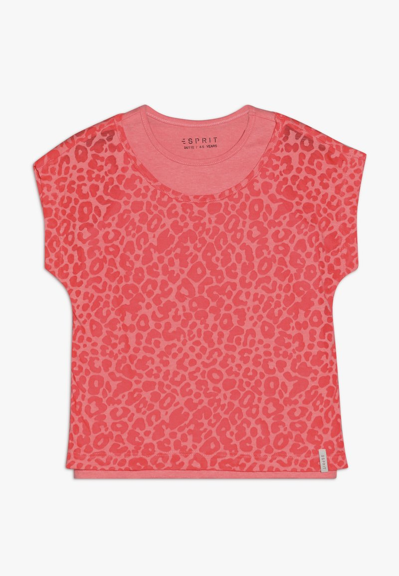 Esprit - T-shirt print - neon coral