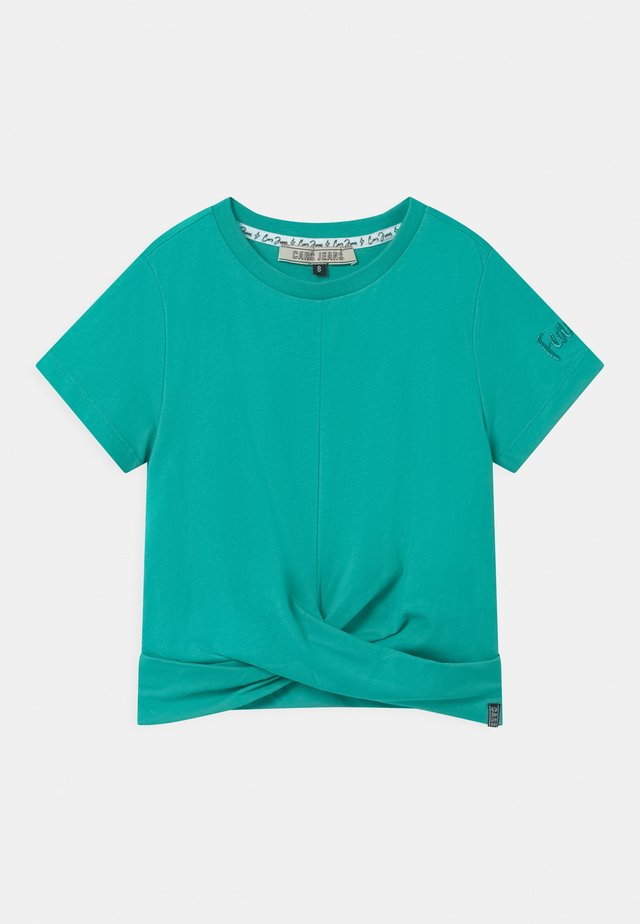 SANTA - T-shirt con stampa - turquoise
