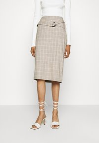 4th & Reckless - AGNES SKIRT - Pencil skirt - beige - 0