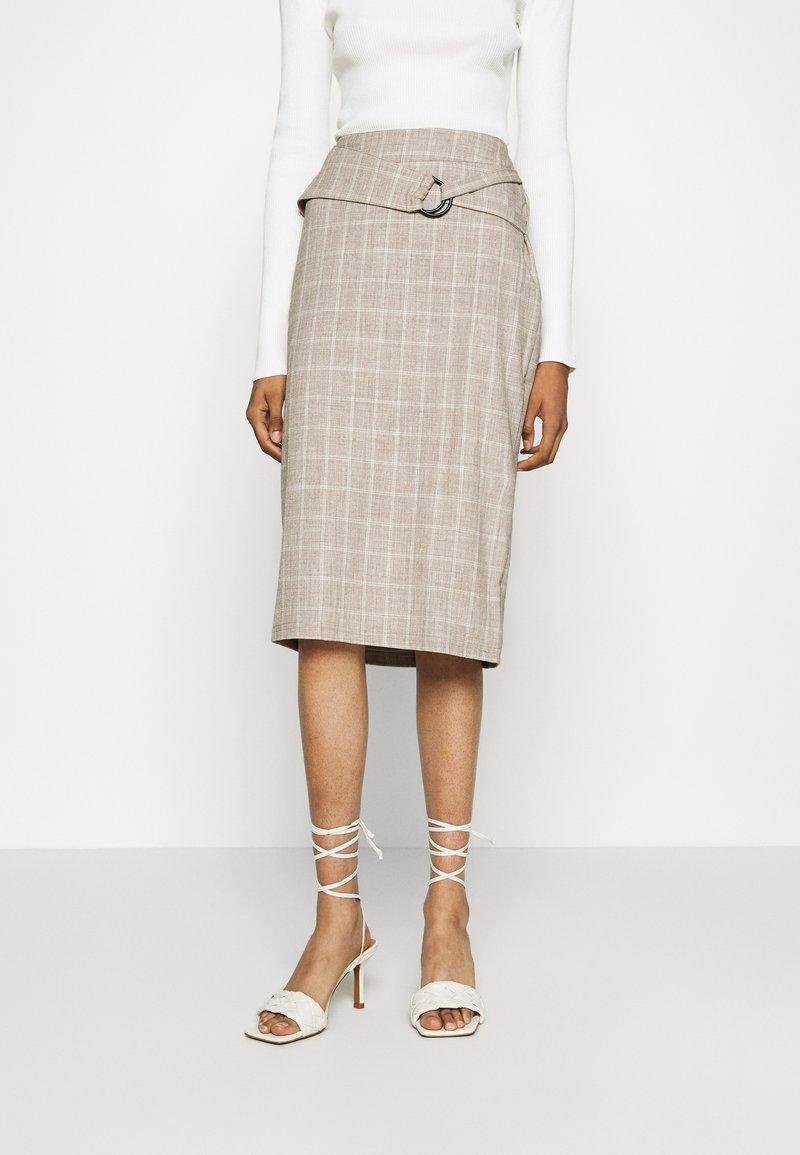 4th & Reckless - AGNES SKIRT - Pencil skirt - beige