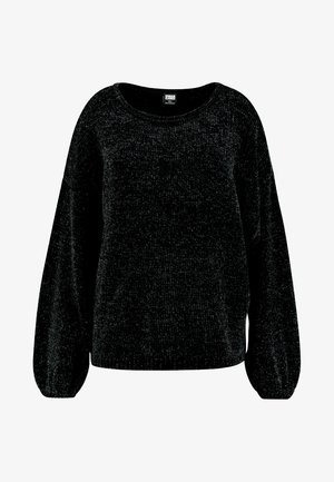 LADIES OVERSIZE CHENILLE - Svetr - black