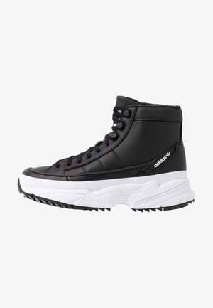 KIELLOR XTRA  - Korkeavartiset tennarit - core black/footwear white
