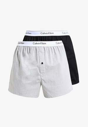 SLIM FIT 2 PACK - Boxer shorts - black/grey