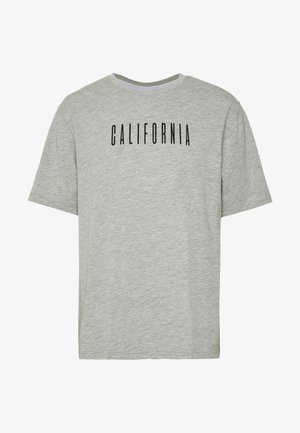 CALIFORNIA TEE - Print T-shirt - grey