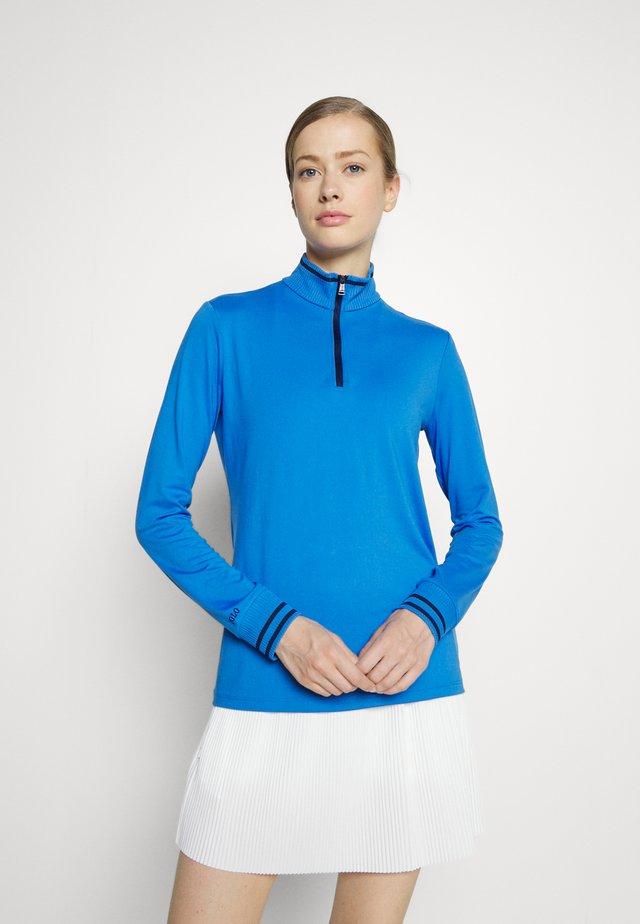 1/4 ZIP LONG SLEEVE - Long sleeved top - colby blue
