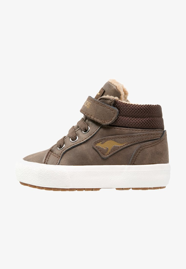 KangaROOS - KAVU - Sneakersy wysokie - dark brown/sand