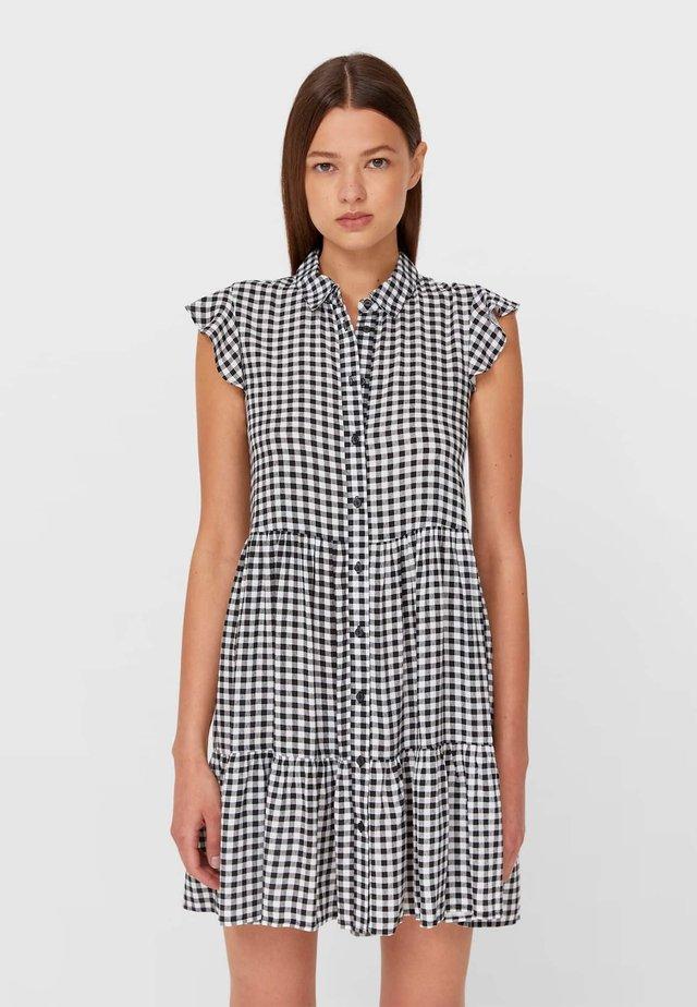 Košilové šaty - mottled black