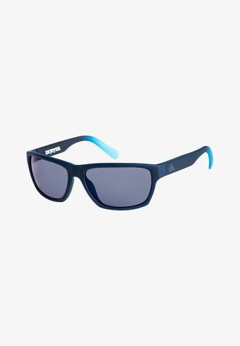 ENJOYER - Sunglasses - matte crystal navy/flash blue