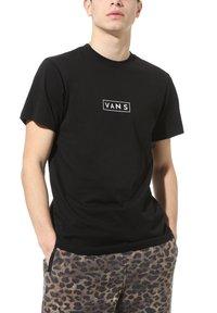 Vans - T-shirt z nadrukiem - black-white - 1