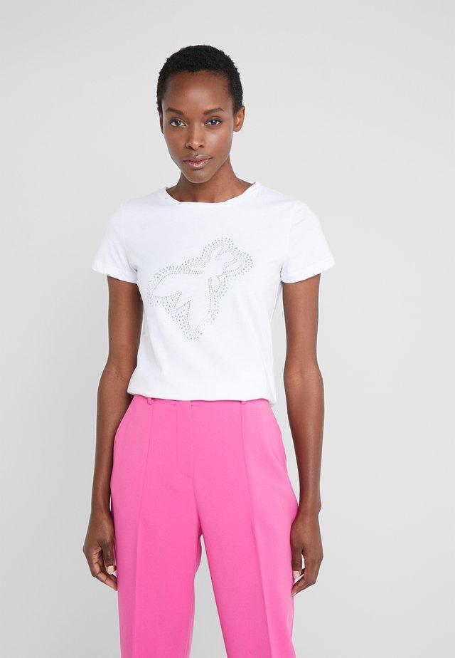 T-shirt z nadrukiem - bianco ottico