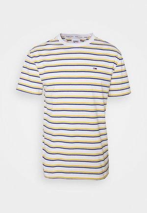 TWO TONE STRIPE CLASSIC TEE - T-shirt med print - white/orange