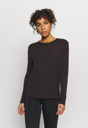 EASE CREW NECK - Long sleeved top - black