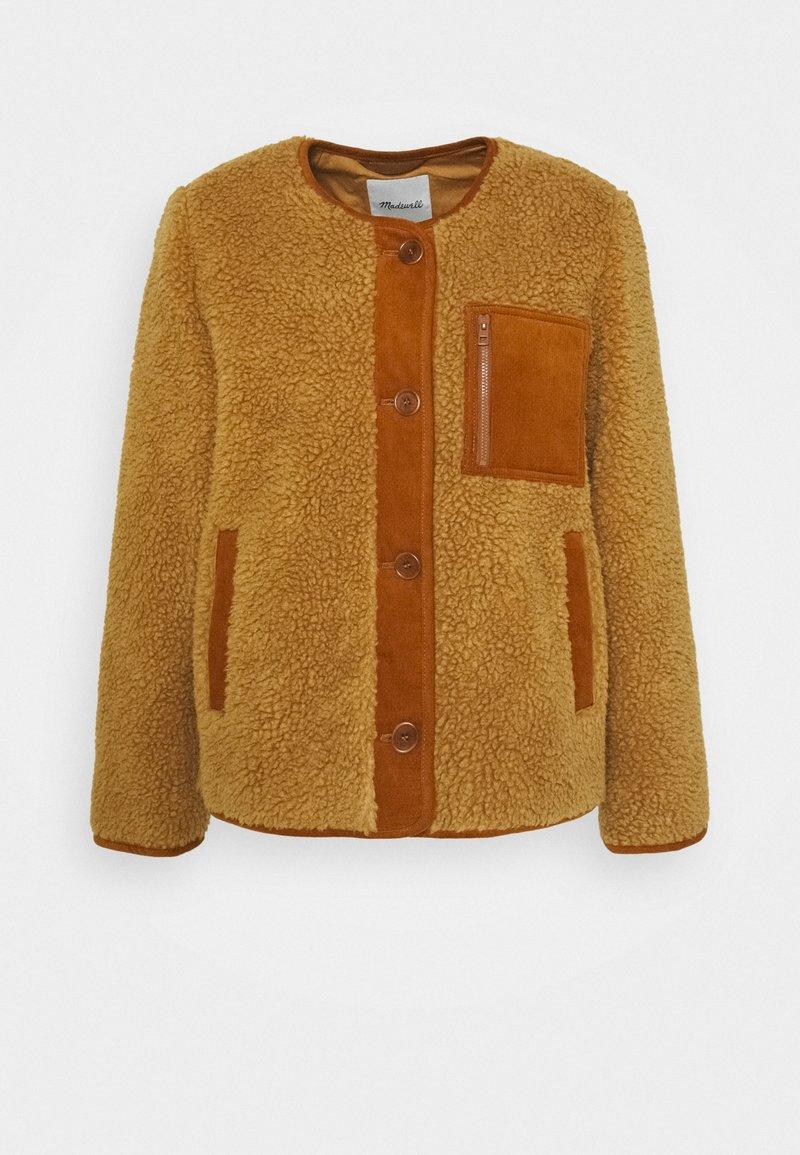 Madewell - FUJI SHERPA LINER JACKET - Zimní bunda - toffee