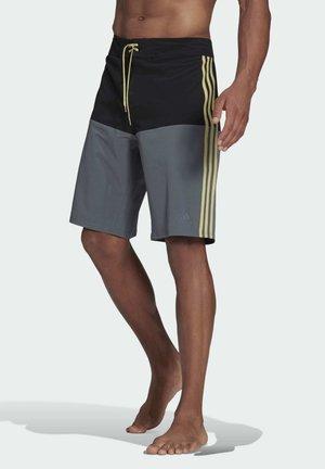 KNEE-LENGTH COLORBLOCK BOARD SHORTS - Shorts da mare - black