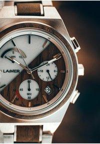 LAIMER - SOLARUHR HOLZUHR MILO SOLAR - Montre à aiguilles - silver/brown - 5