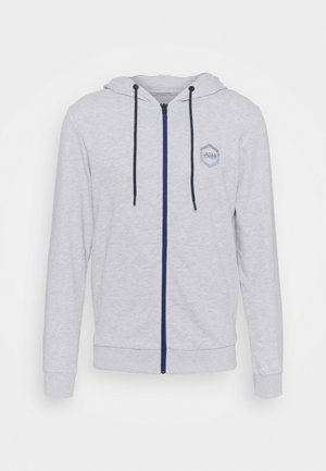 JJDELIGHT ZIP HOOD - Felpa aperta - light grey melange